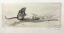 Richard Müller          (1874-1954),Maus mit Kornähre, Radierung, Etching,1910 - Mouse          with an ear of corn,          Best.Nr. 007117
